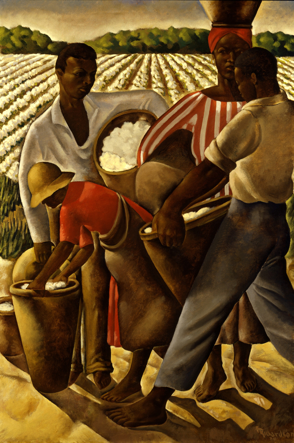 Employment of Negroes in Agriculture, by Earle Richardson, 1934. Smithsonian American Art Museum, Transfer from the U.S. Department of Labor, 1964.