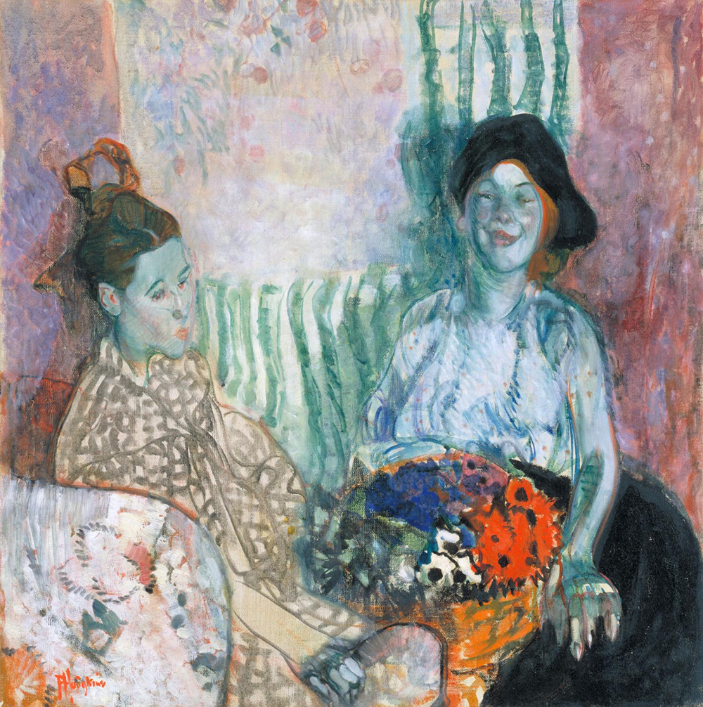 Loveday and Ann: Two Women with a Basket of Flowers, by Frances Hodgkins, 1915. Photograph © Tate (CC-BY-NC-ND 3.0).