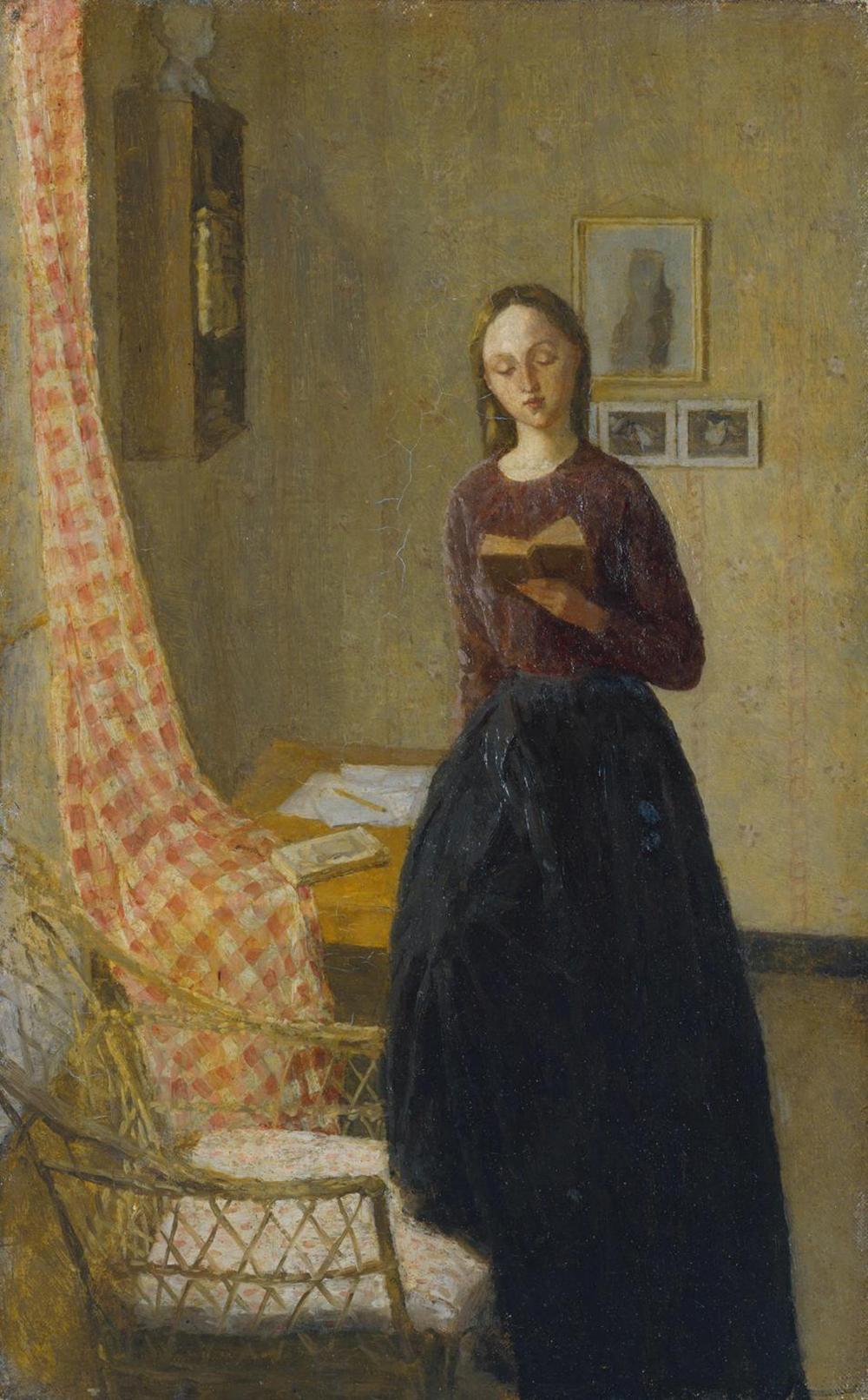 A Lady Reading, by Gwen John, c. 1901. Photograph © Tate (CC-BY-NC-ND 3.0).