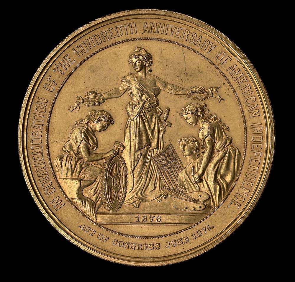 United States Centennial medal, by William Barber, 1876.