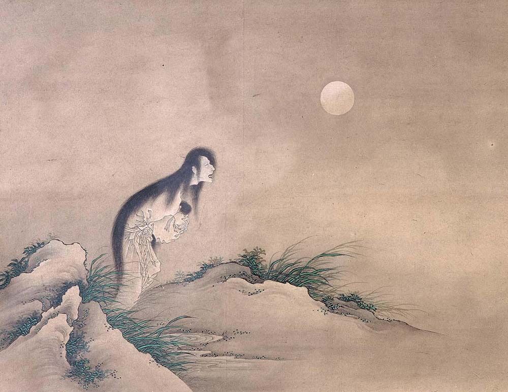 Female Ghost in the Moonlight, by the school of Katsushika Hokusai, nineteenth century.