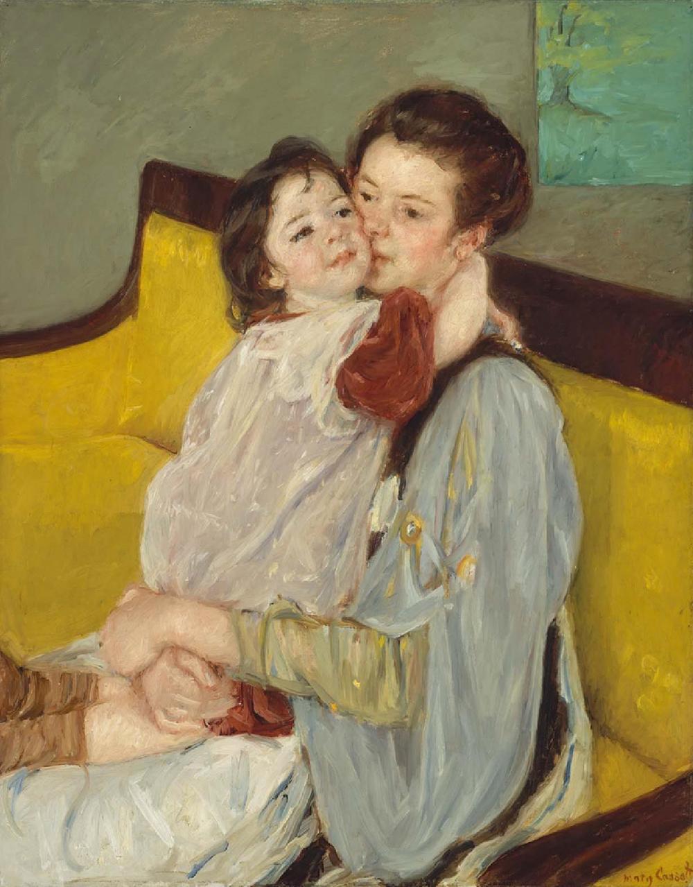 Caresse Maternelle, by Mary Cassatt, c. 1902.