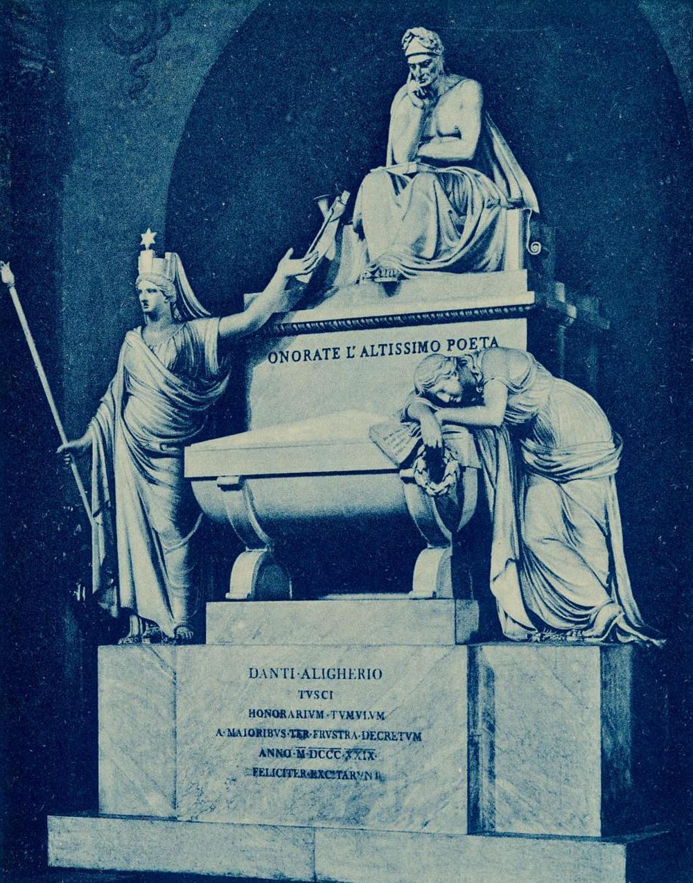 Dante Alighieri monument. Photograph by the Fratelli Alinari. Museum of Fine Arts, Boston, gift of Sylvester Rosa Koehler.