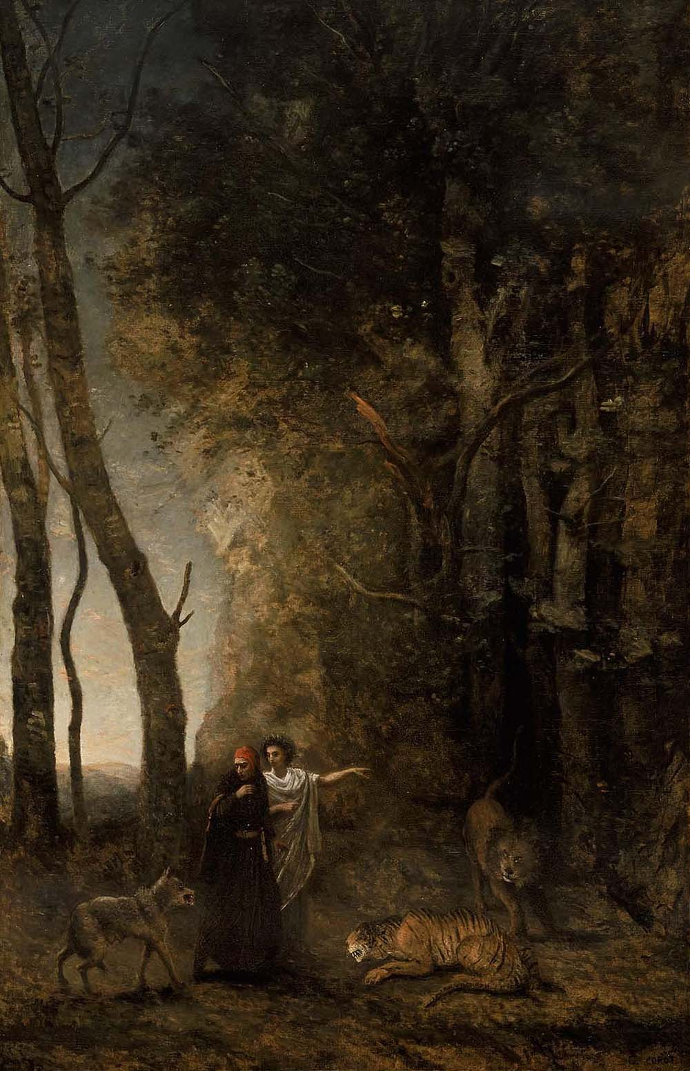 Dante and Virgil, by Jean-Baptiste-Camille Corot, 1859. Museum of Fine Arts, Boston.