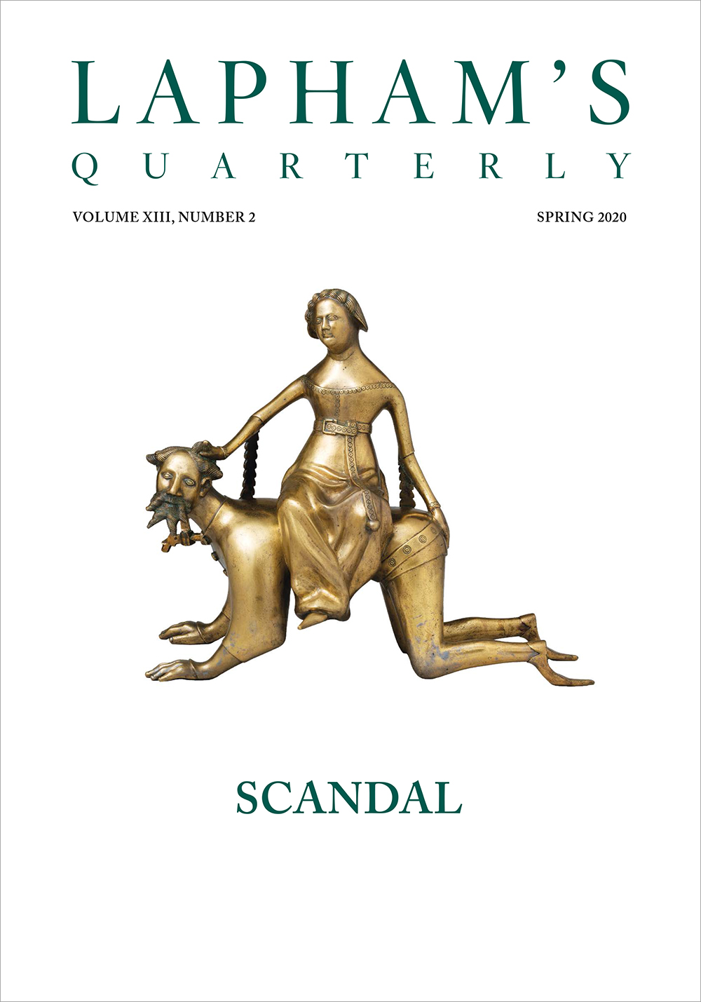 Cover of Scandal, the Spring 2020 issue of Lapham's Quarterly.