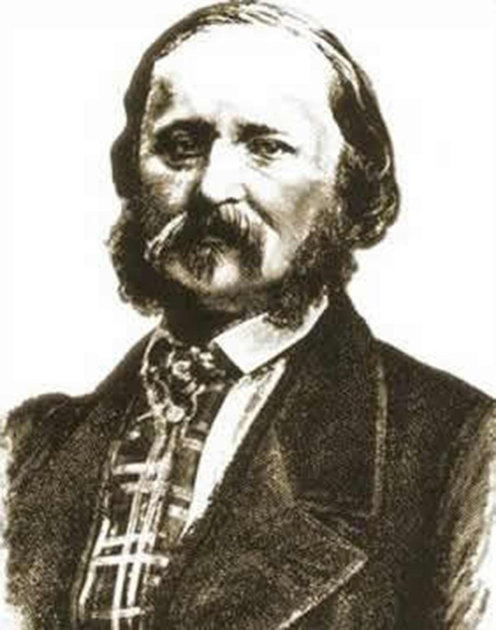 Portrait of French typographer Édouard-Léon Scott de Martinville, date unknown.