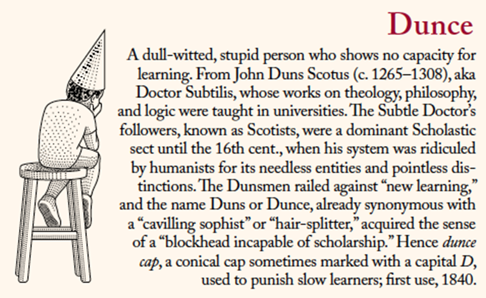 Dunce. Illustration by Christopher Brian King.