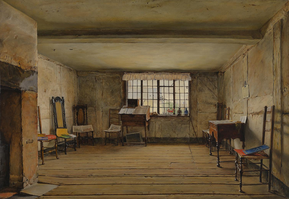 The Room in Which Shakespeare Was Born, by Henry Wallis, 1853. © Tate (CC-BY-NC-ND 3.0).
