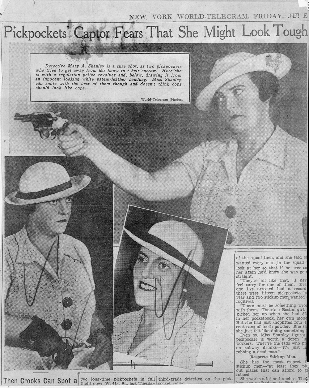 Mary A. Shanley, New York City detective, 1937. Library of Congress, New York World-Telegram and the Sun Newspaper Photograph Collection.