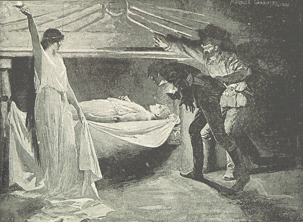"""Illustration from H. Rider Haggard's """"She,"""" 1888 edition. The British Library."""