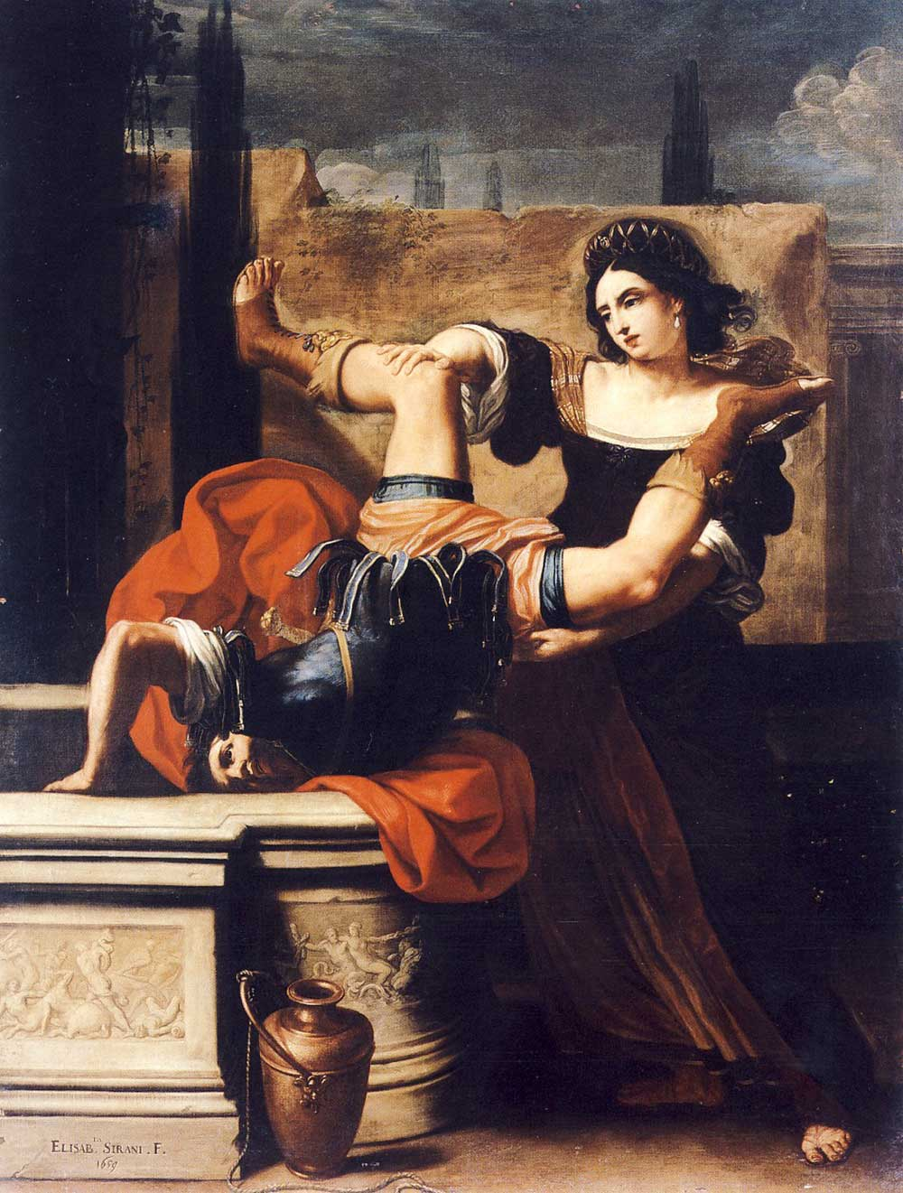 Timoclea Kills the Captain of Alexander the Great, by Elisabetta Sirani, 1659.