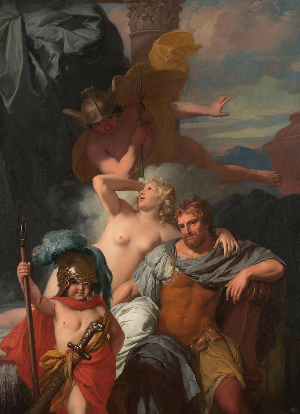 """""""Mercury Ordering Calypso to Release Odysseus,"""" by Gerard de Lairesse, c. 1680. Rijkmuseum."""