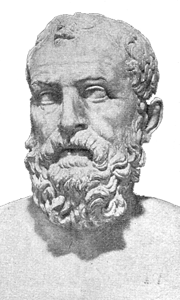 a stippled bust of Solon