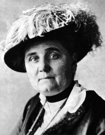Black and white photograph of social reformer and pacifist Jane Addams.