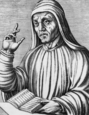 Anglo-Saxon scholar Alcuin of York.