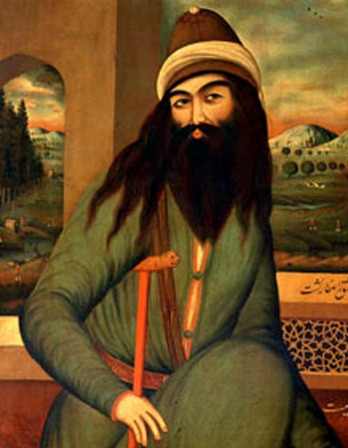 Painting of Persian Muslim poet Farid ud-Din Attar.