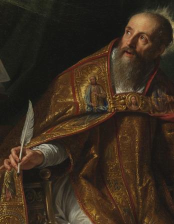 Saint Augustine (detail), byPhilippe de Champaigne, c.1645.
