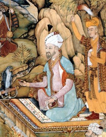Depiction of Mughal dynasty founder Babur.