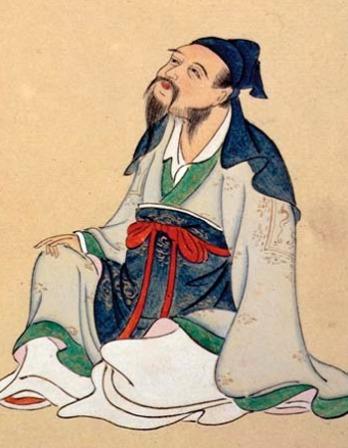 Chinese poet Li Bai seated.