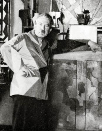 Black and white photograph of Italian artist Giacomo Balla.