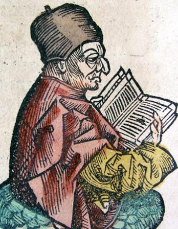 Manuscript image of St. Bede.