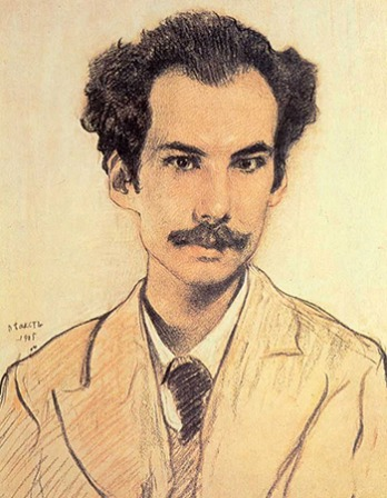 Russian poet Andrei Bely.