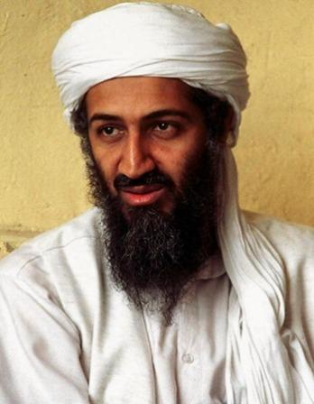 Color photograph of Osama bin Laden, founder of militant Islamist group al-Qaeda.