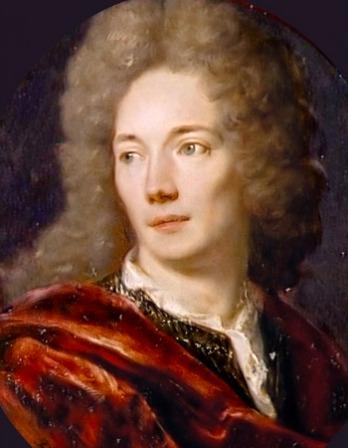 Painting of Jean de la Bruyère wearing a red cape.