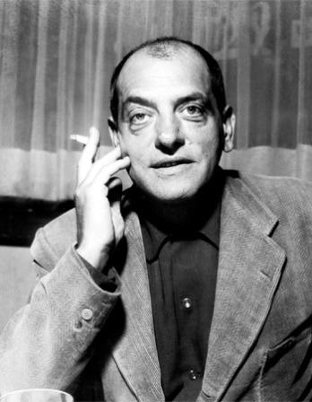 Black and white photograph of Spanish filmmaker Luis Buñuel.