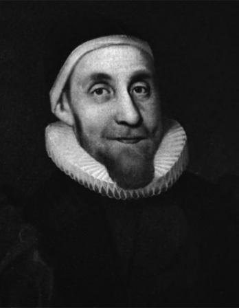 Black and white image of English scholar, writer, and clergyman Robert Burton.