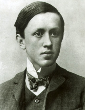 Black and white photograph of Czech writer Karel Čapek.
