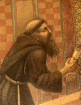 Fresco of Franciscan friar and traveler Giovanni da Pian del Carpine.