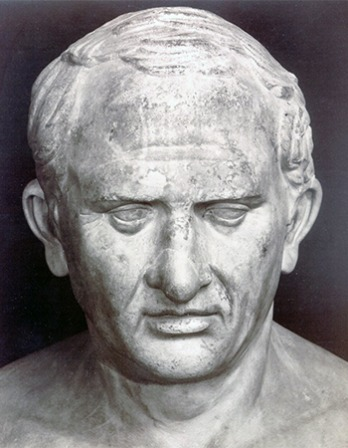 Roman statesman, lawyer, scholar, and writer Marcus Tullius Cicero.