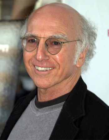 American comedian and writer Larry David.