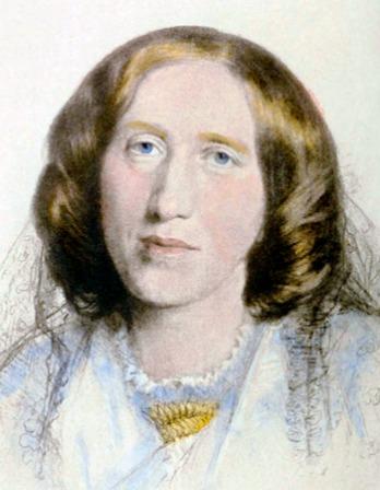 Pastel drawing of George Eliot.