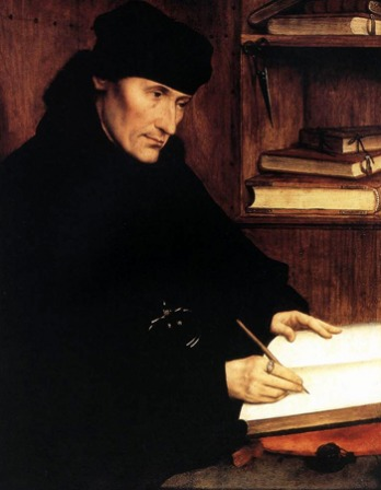 Painting of humanist and scholar Desiderius Erasmus.