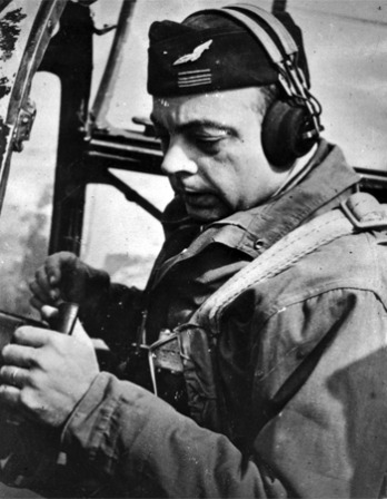 Black and white photograph of French aviator and writer Antoine de Saint-Exupéry.