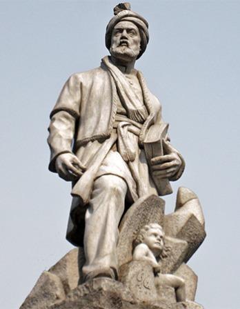 Statue of the Persian poet Ferdowsi.