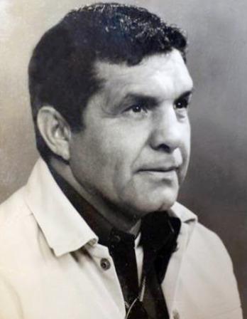 Black and white photograph of former American Marine Guy Gabaldon.
