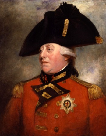 Portrait of King George III in military dress.