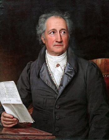German writer and statesman Johann Wolfgang von Goethe.