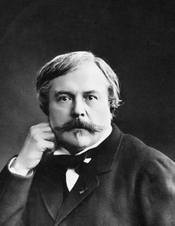 French writer, critic, and book publisher Edmond de Goncourt.