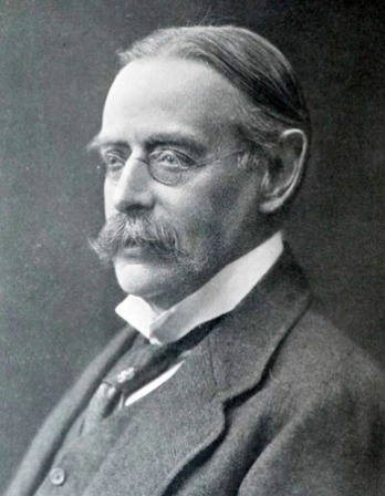 Photograph of English literary historian and critic Edmund Gosse.