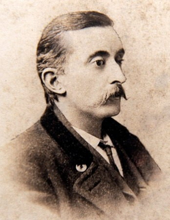 Photograph of American writer and translator Lafcadio Hearn.