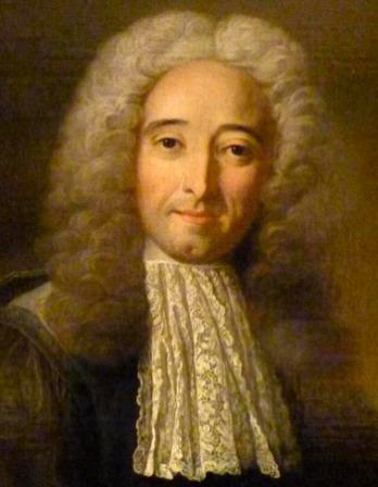 Portrait of French philosopher Claude-Adrien Helvétius.