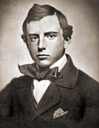 Black and white photograph of historian and man of letters Henry Adams.