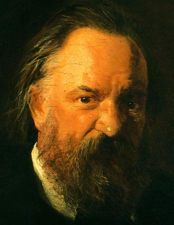 Portrait of Russian political thinker and writer Alexander Herzen.