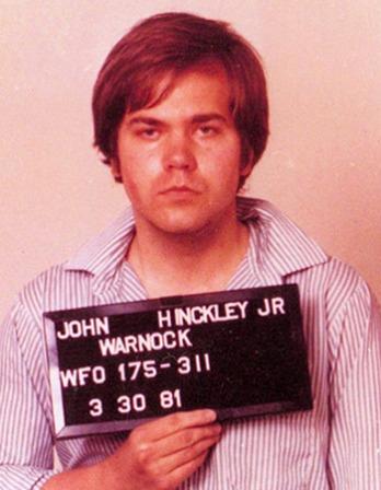 American assassin John Hinckley Jr.