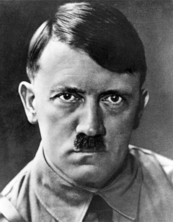 Black and white photograph of former chancellor and Führer of Germany Adolf Hitler.
