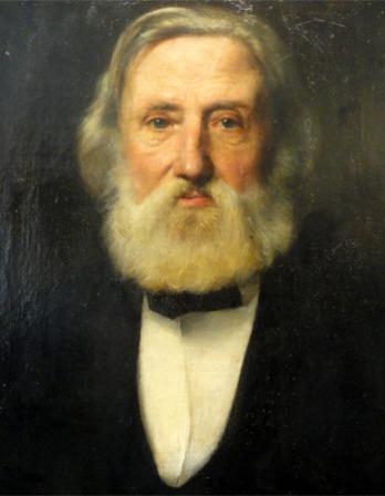 Portrait of German physician and writer Heinrich Hoffmann.